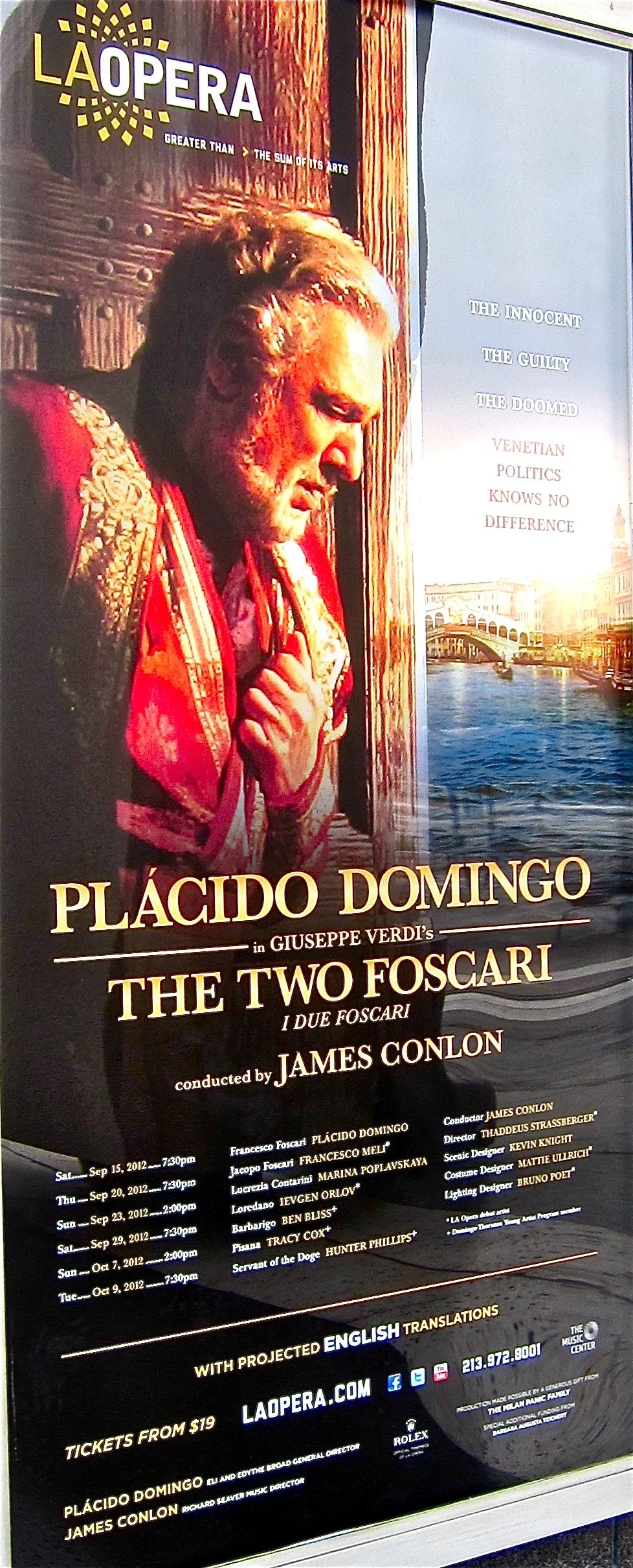 The Two Foscari poster