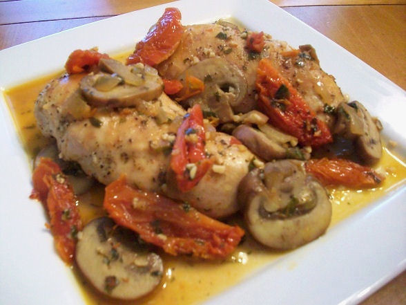Chicken with Sun-Dried Tomatoes and Mushrooms | Flickr - Photo Sharing ...