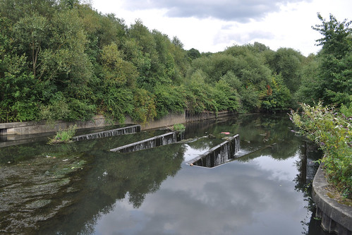 Jagged weir on the Brent