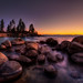 Last bit of light - Dancing on the boulders along the shores of Lake Tahoe
