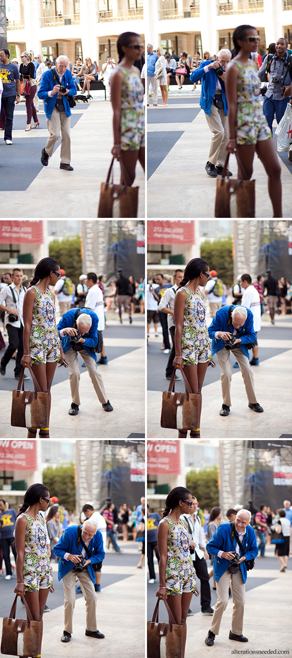 Bill Cunningham Shooting New York Fashion Week