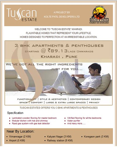 Tuscan Estates - 3 BHK Apartments and Penthouses in Kharadi, Pune by Kolte Patil Developers starting at Rs 89.13 lacs onwards by jungle_concrete
