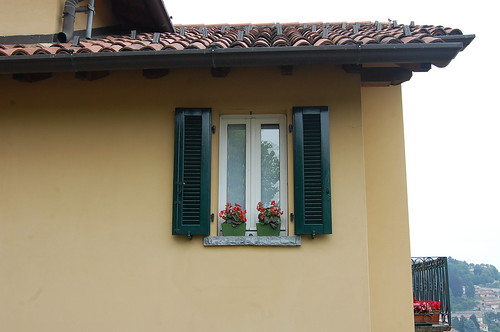 Lake Como Italy window