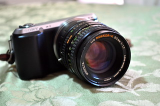 Sony NEX-C3 with MD Rokkor-X 1.7/50 MD/MC