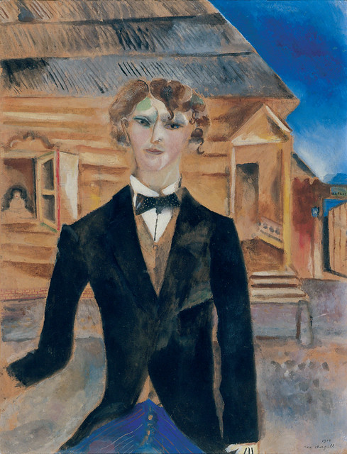 [ C ] Marc Chagall - Self-portrait in front of a house (1914)