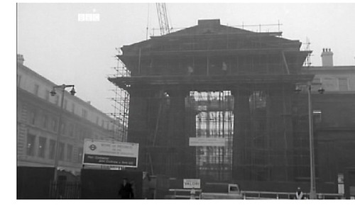 Demolition of Euston Arch, London, about December 1961