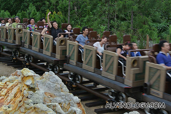 Closer picture of the ride