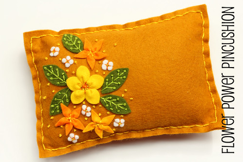 Flower Power Pincushion