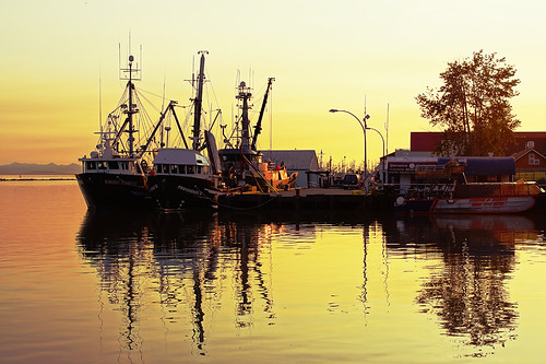 Richmond Steveston at Sunset