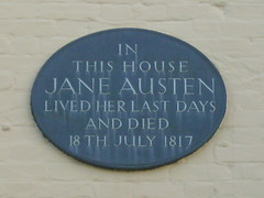 Photo of Jane Austen black plaque