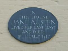 Photo of Jane Austen black plaque