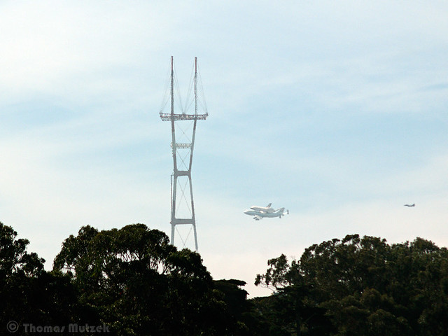 Shuttle Endeavour and Sutro Tower, San Francisco