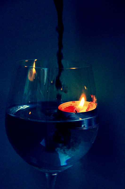 set fire to wine
