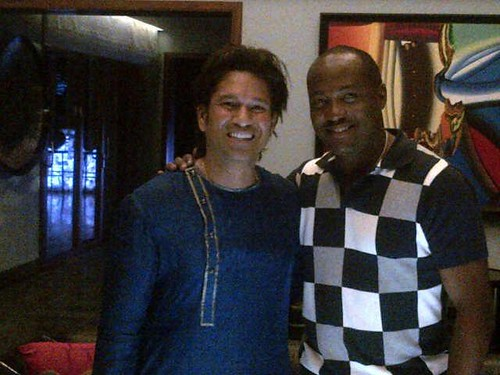 Legends of the game : Sachin Tendulkar with Brian Lara