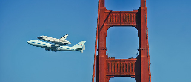endeavor golden gate fly over panorama