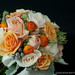 peach, cream, and orange bridal bouquet
