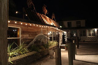 Exterior at Night, Mar Vista, Restaurant Review, Longboat Key, FL