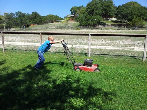 Travis mowing 2