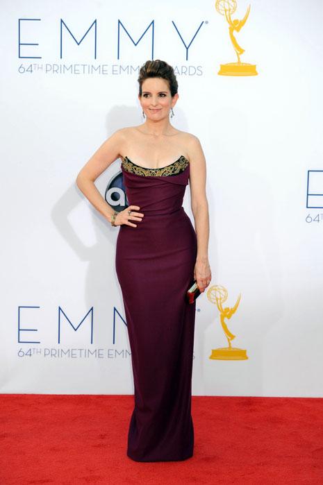 Tina Fey wearing Pamella Roland, emmys