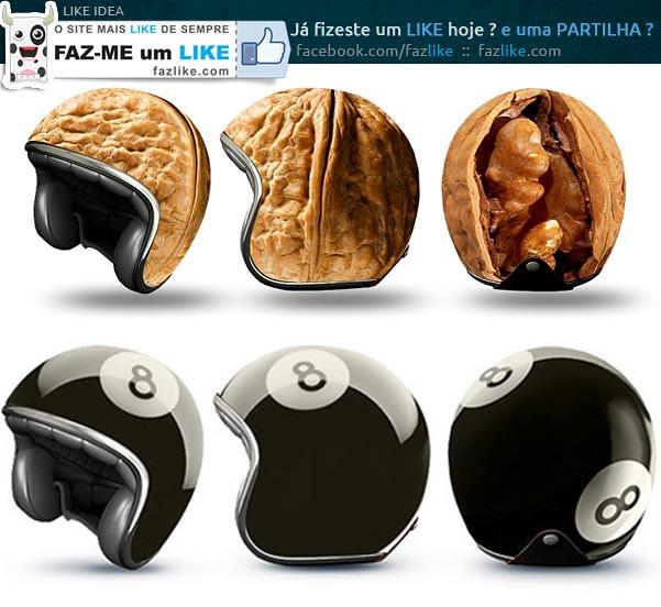 capacetes criativos