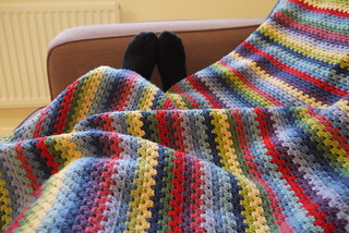 Completed granny stripe