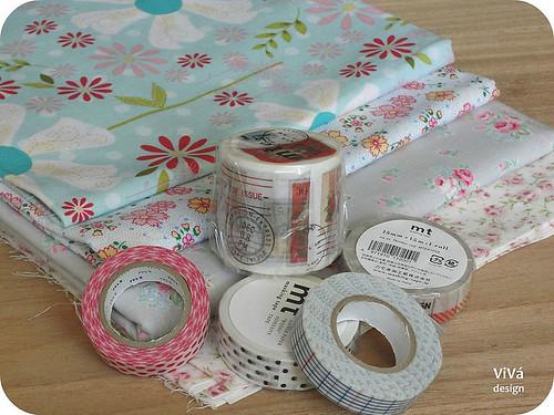 Tecidinhos + Masking tapes!