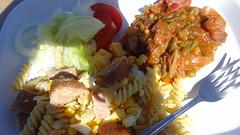 Wild Dog Safari Lunch, Pasta Salad With Meat, Skel…