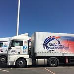 Caravan_pilot_zhangjiakou_white truck_parked