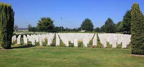 The Bayeux War Cemetery, WW2, France.