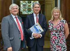 Chancellor Philip Hammond visits County Hall