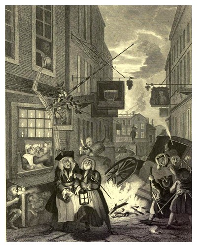 010-Los cuatro momentos del dia- The complete works of William Hogarth..1800