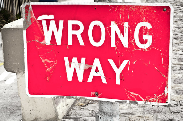 WRONG WAY from Flickr via Wylio