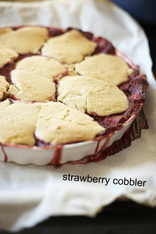 Strawberry cobbler