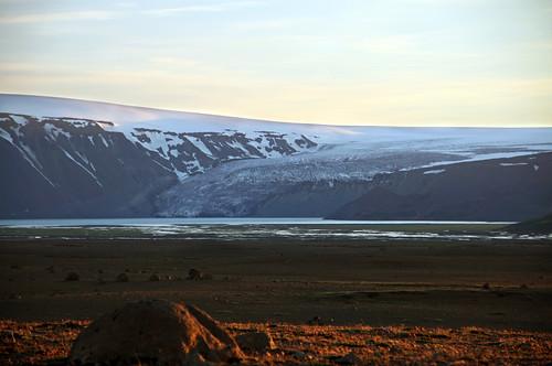 sunset sky mountain nature iceland glacier highland kjölur langjökull