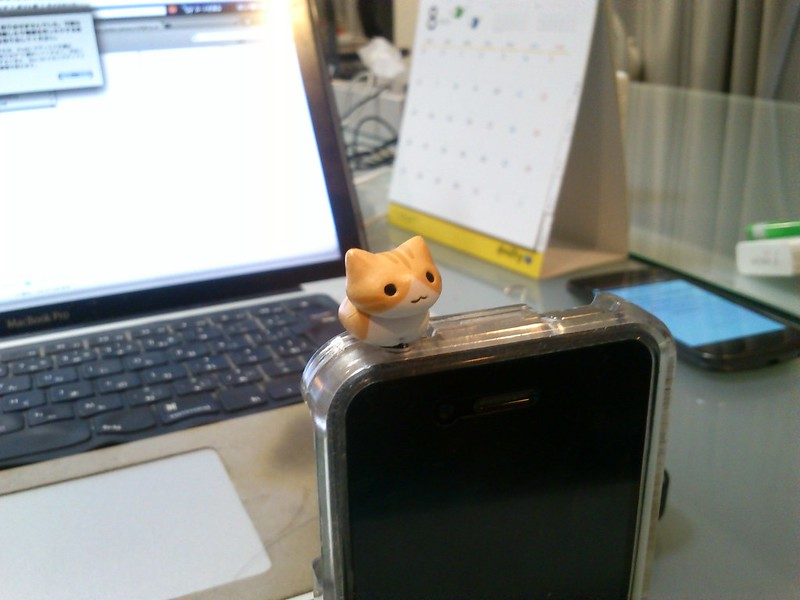 Cat earphone jack for iPhone