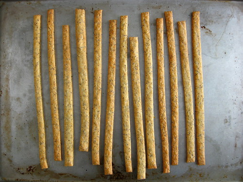 parmesan and poppy seed cheese straws