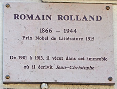 Photo of Romain Rolland marble plaque