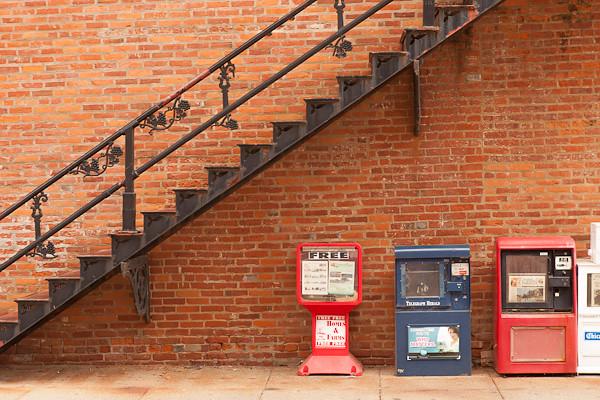 Wrought Iron Staircase, Main Street, Galena Illinois