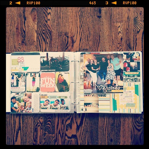 #projectlife week 33 full spread insert right
