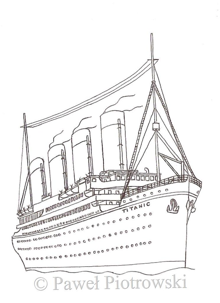 Free Coloring Pages Of How To Draw The Titanic