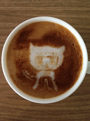 Today's latte, Spocktocat.