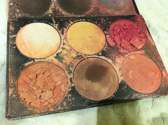 destroyed broken blush palette