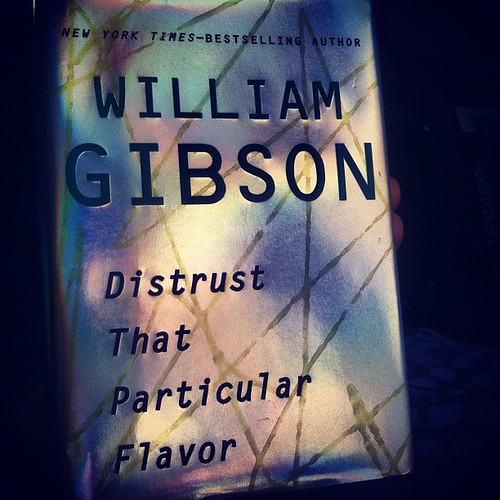 Finally digging into Distrust That Particular Flavor by @greatdismal - the perfect companion for a nine hour train trip through the Catskills on a rainy Monday.