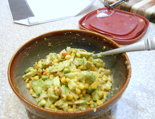 Fried Corn and Avocado Salsa