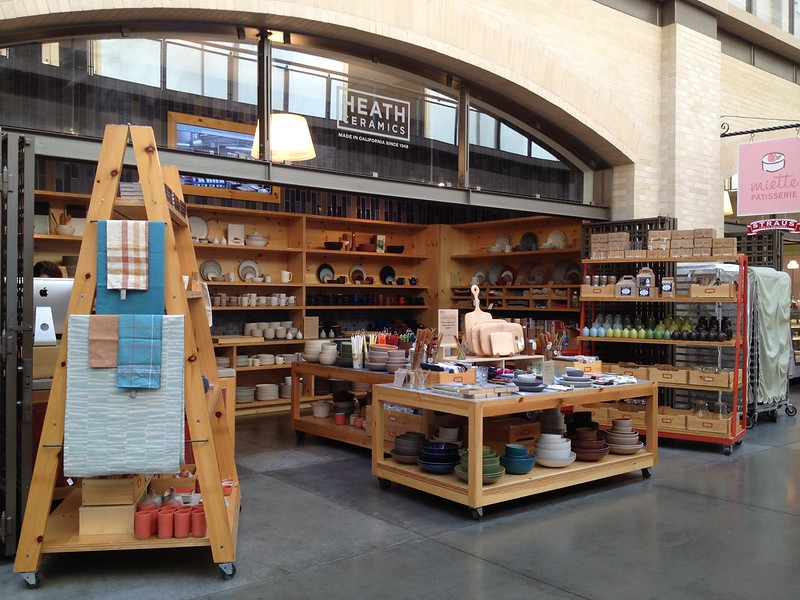 Little Heath Ceramics shop at the Ferry Market Building in SF