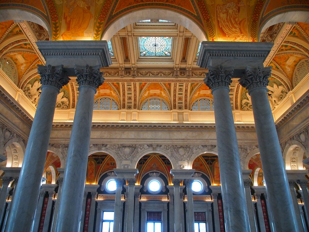 Inside the Library of Congress (Washington DC, USA 2012)