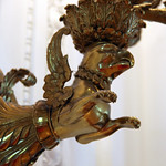 Gryphon lamp fixture base 02 - East Room replica - Richard Nixon Presidential Library and Museum