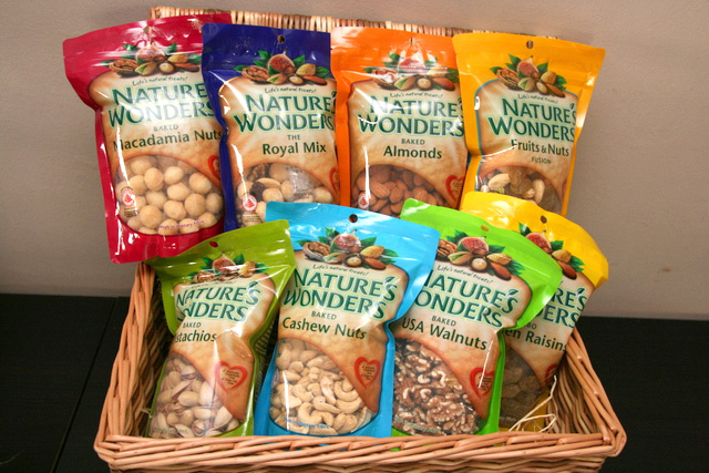 Nature's Wonders has a range of healthy snacks, most of which are baked nuts, not fried
