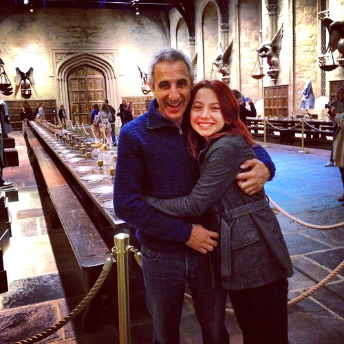My step dad and I in the actual Great Hall