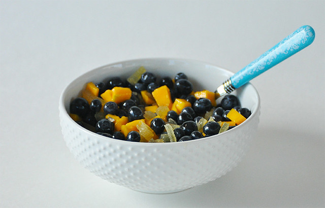 Blueberry, Mango, and Ginger Fruit Salad